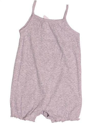 Combinaison courte fille H&M gris 9 mois été #1485434_1