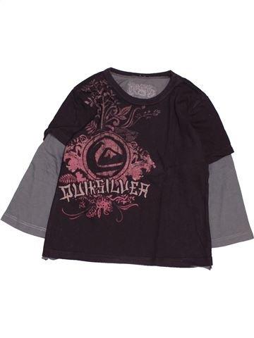 T-shirt manches longues garçon QUIKSILVER marron 3 ans hiver #1485840_1