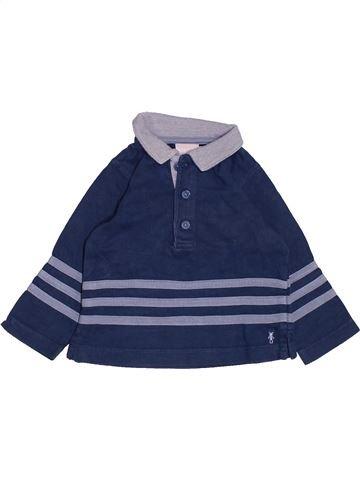 Polo manches longues garçon NATALYS bleu 9 mois hiver #1485880_1
