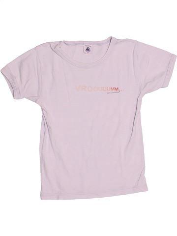 T-shirt manches courtes garçon PETIT BATEAU blanc 8 ans été #1486066_1