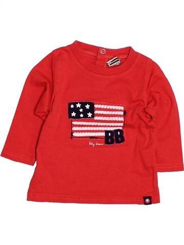 T-shirt manches longues garçon TAPE À L'OEIL rouge 6 mois hiver #1486114_1