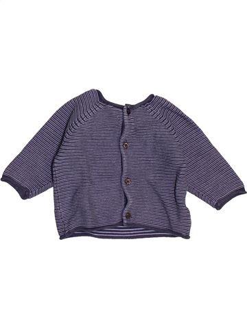 Gilet garçon BOUT'CHOU violet 3 mois hiver #1486222_1