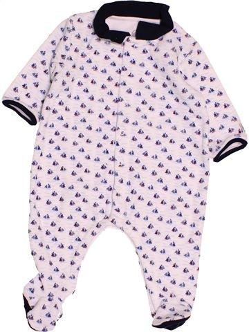 Pyjama 1 pièce garçon PETIT BATEAU rose 3 mois hiver #1486795_1