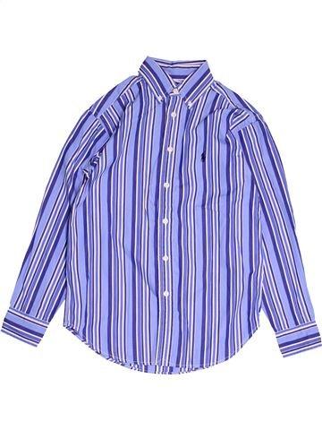 Chemise manches longues garçon RALPH LAUREN bleu 8 ans hiver #1486926_1