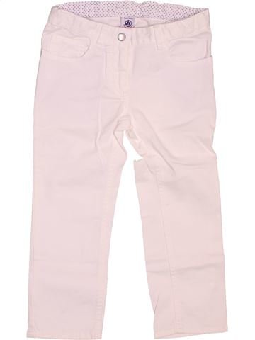 Pantalon fille PETIT BATEAU blanc 3 ans été #1487722_1