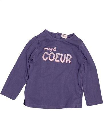 T-shirt manches longues fille TAPE À L'OEIL violet 3 ans hiver #1487731_1