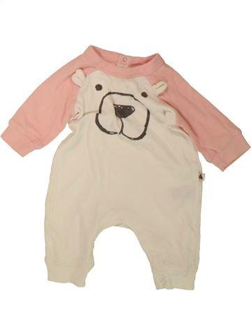 Pyjama 1 pièce fille GAP blanc 3 mois été #1488266_1