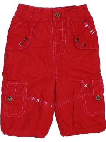 Pantalon fille TAPE À L'OEIL rouge 3 mois été #1488281_1