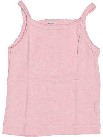 T-shirt sans manches fille PETIT BATEAU rose 4 ans été #1488593_1