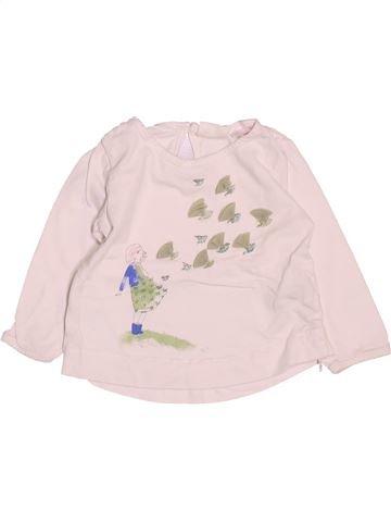 Camiseta de manga larga niña ZARA rosa 9 meses invierno #1488601_1