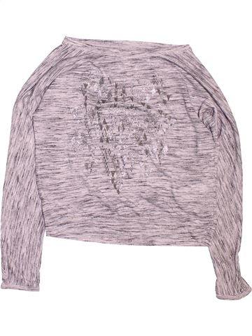 T-shirt manches longues fille H&M gris 10 ans hiver #1488655_1