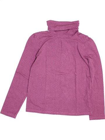 T-shirt col roulé fille VERTBAUDET rose 10 ans hiver #1489160_1
