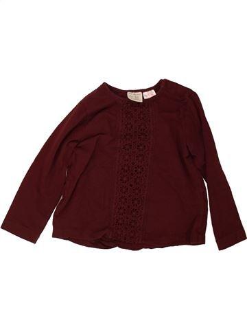 T-shirt manches longues fille ZARA marron 4 ans hiver #1489778_1