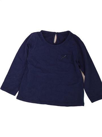 T-shirt manches longues fille MATALAN bleu 4 ans hiver #1489785_1