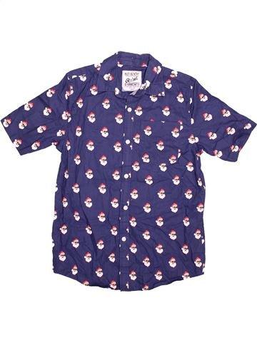 Chemise manches courtes garçon PRIMARK violet 13 ans été #1489962_1