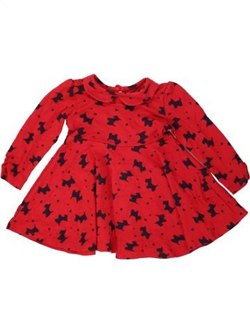 Robe fille GEORGE rouge 18 mois hiver #1490464_1