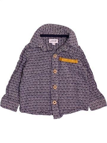 Chemise manches longues garçon BOWS&ARROWS violet 12 mois hiver #1490609_1