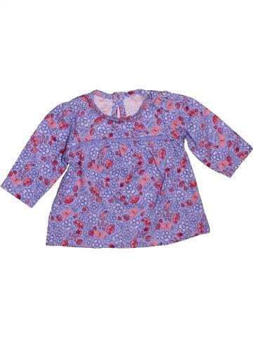 T-shirt manches longues fille GEORGE violet 1 mois hiver #1490763_1