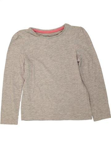 T-shirt manches longues fille TU gris 4 ans hiver #1490824_1