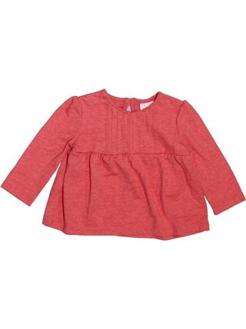 T-shirt manches longues fille F&F rose 6 mois hiver #1490904_1