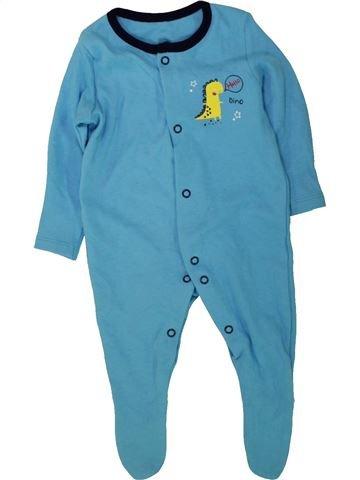 Pijama de 1 pieza niño GEORGE azul 3 meses verano #1490905_1
