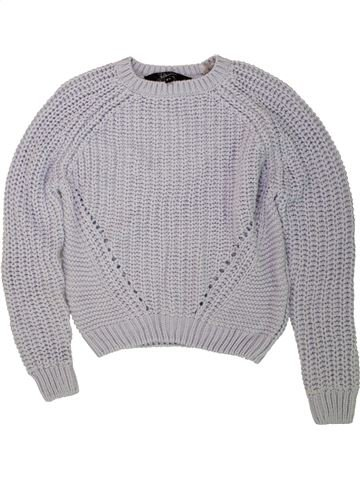 Pull fille NEW LOOK gris 11 ans hiver #1491015_1