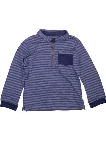 Polo manches longues garçon MATALAN bleu 4 ans hiver #1491039_1