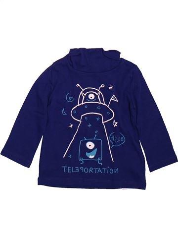 T-shirt col roulé garçon DPAM bleu 12 mois hiver #1491070_1