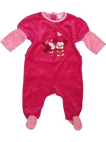 Pyjama 1 pièce fille DISNEY rose 6 mois hiver #1491086_1