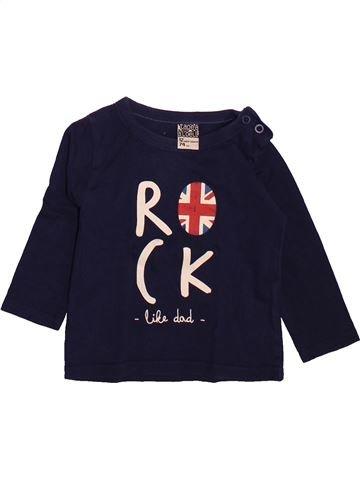 T-shirt manches longues garçon TAPE À L'OEIL noir 12 mois hiver #1491088_1