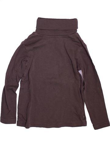T-shirt col roulé garçon OKAIDI marron 5 ans hiver #1491109_1