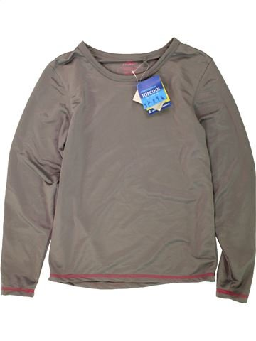 T-shirt manches longues fille CRANE gris 10 ans hiver #1491249_1