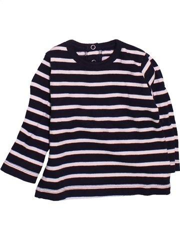 T-shirt manches longues garçon PETIT BATEAU noir 12 mois hiver #1491291_1