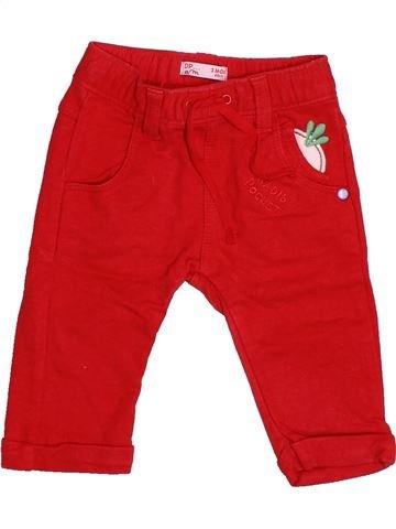 Pantalon garçon DPAM rouge 3 mois hiver #1491376_1