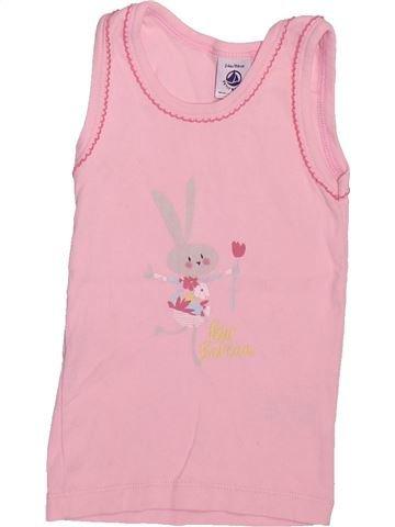 T-shirt sans manches fille PETIT BATEAU rose 2 ans été #1491377_1