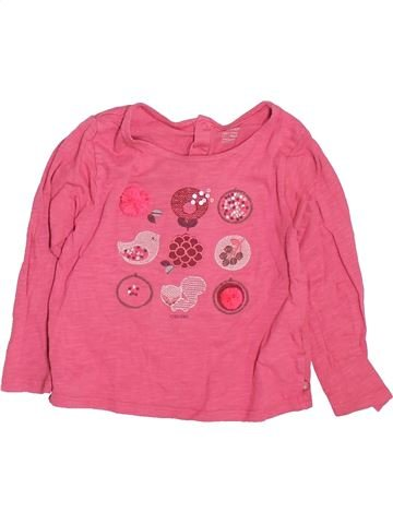 T-shirt manches longues fille OKAIDI rose 2 ans hiver #1491379_1