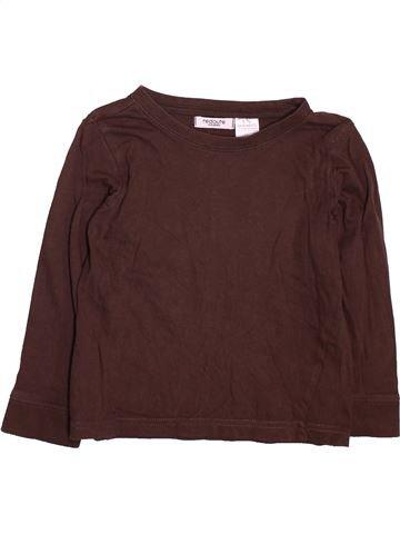 Camiseta de manga larga niño LA REDOUTE CRÉATION marrón 4 años invierno #1491507_1