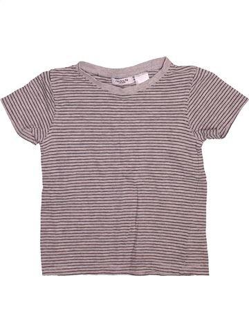 T-shirt manches courtes garçon LA REDOUTE CRÉATION gris 4 ans été #1491519_1