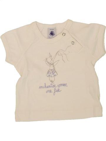 T-shirt manches courtes fille PETIT BATEAU bleu 3 mois été #1491667_1