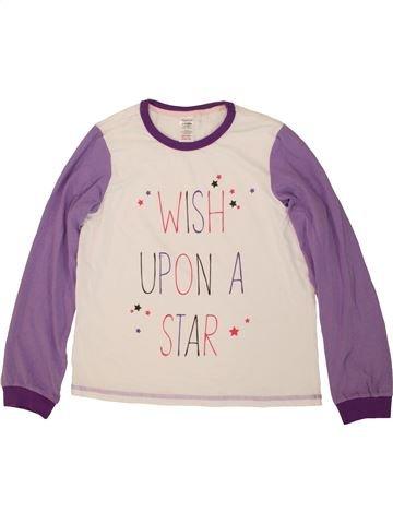 T-shirt manches longues fille LILY & DAN violet 12 ans hiver #1491769_1
