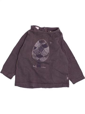 Camiseta de manga larga niña OKAIDI violeta 6 meses invierno #1491922_1