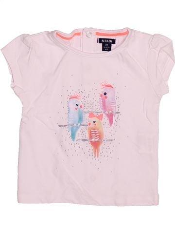 T-shirt manches courtes fille KIABI rose 3 mois été #1491925_1