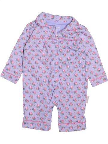 Combinación larga niña JOJO MAMAN BÉBÉ violeta 3 meses invierno #1491986_1