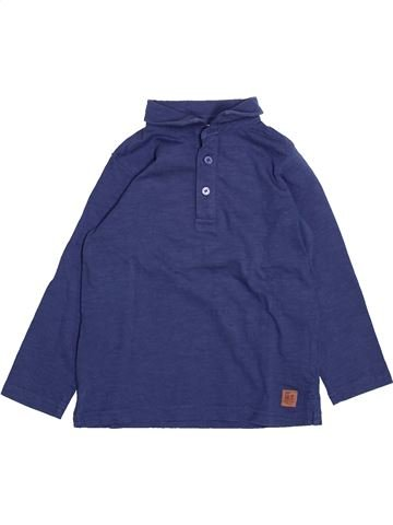 Polo manches longues garçon TAPE À L'OEIL bleu 4 ans hiver #1492031_1