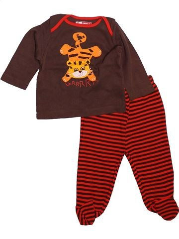 Pyjama 2 pièces garçon DPAM marron 6 mois été #1492068_1