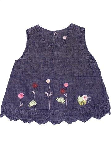 Blouse manches courtes fille CATIMINI violet 6 mois été #1492264_1