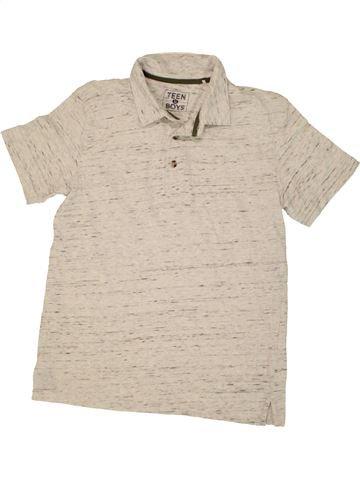 Polo manches courtes garçon MATALAN blanc 12 ans été #1492328_1