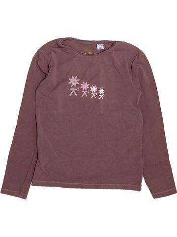 T-shirt manches longues fille OKAIDI violet 5 ans hiver #1492337_1