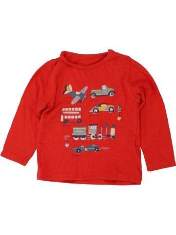 T-shirt manches longues garçon MARKS & SPENCER rouge 1 mois hiver #1492576_1
