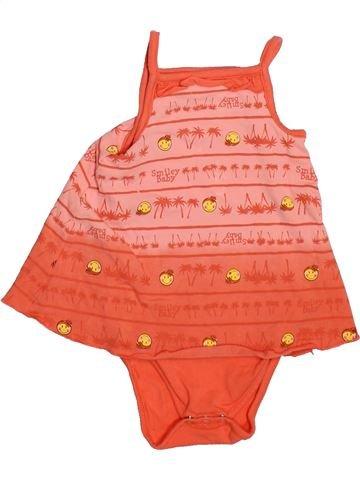 T-shirt sans manches fille ORCHESTRA orange 3 mois été #1492648_1